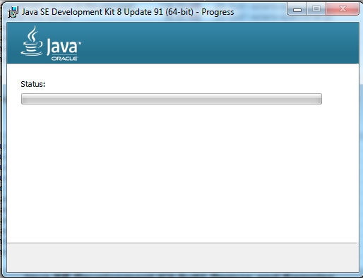 Java installation progress, step3