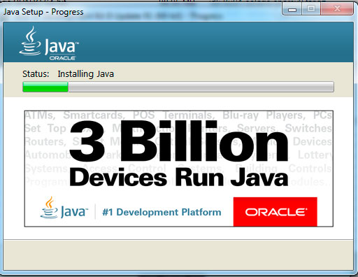 Java installation progress step5